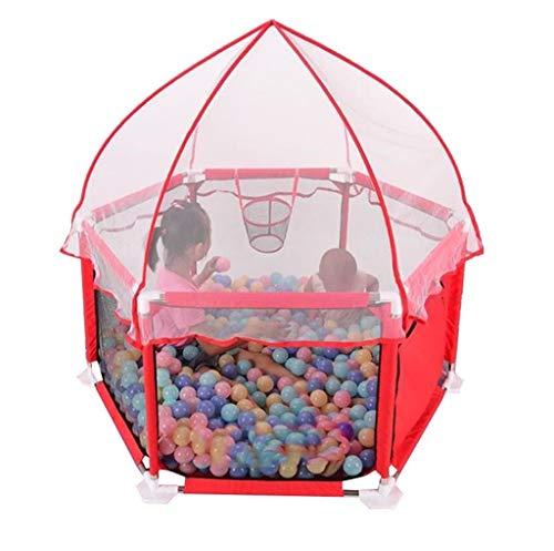 CFC- Laufgitter - ställe Spielplatz Tragbarer Laufstall mit extra dämpfendem Moskitonetz für Safety Ball Pit Zelt atmungsaktives Mesh, für Reisen, Indoor und Outdoor Play Yard (Bälle Nicht enthalten) -