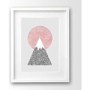 Kunstdruck ungerahmt, Sonnenaufgang Berg