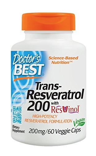 Doctor's Best, Best Resveratrol 200 avec du ResVinol-25, 200mg, 60 Capsules végétales