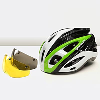 YXINY YS-32 Cycle Bike Helmet Men and Women 26 Air Vents 2-color PC Magnetic Goggles Allround Helmets L/XL Black Blue Green Red Yellow from YXINY