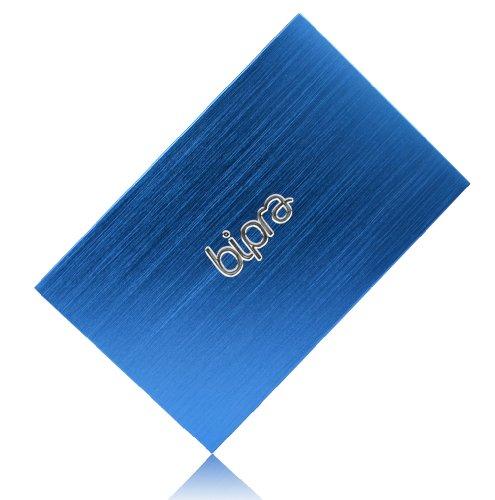BIPRA FAT32 Externe Festplatte (2,5Zoll/ 63,5mm), Blau Metallic blau 120GB