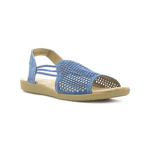 4de995f6a2cf Earth Spirit Long Beach Womens Blue Flat Sandal - Size 3 UK - Blue