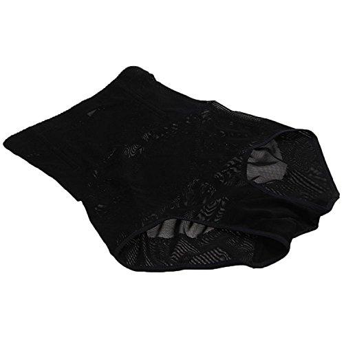 TOOGOO(R) Culotte Gainante Gaine Amincissante Minceur Ventre Plat Serre Taille XL Noir