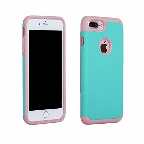 BoxTii®, custodia iPhone 7 [con protezione schermo in vetro temprato inclusa], in morbido TPU + cover rigida in policarbonato, anti-graffio e assorbimento degli urti 2in 1, custodia protettiva poster #6 Blue