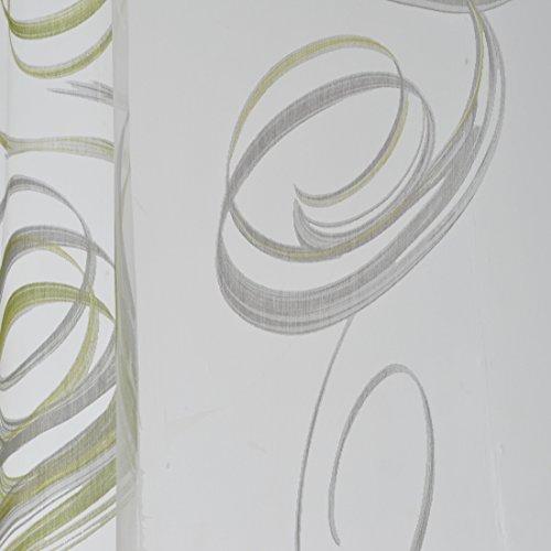 Dekostoff Gardinenstoff Vorhangstoff Meterware für Gardinen, Vorhänge, Kissen, etc. - Transparent Helix Store Grafik Grau MUSTER