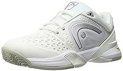 Head Women s Revolt Pro Tennis Shoe White/Silver 6 B(M) US