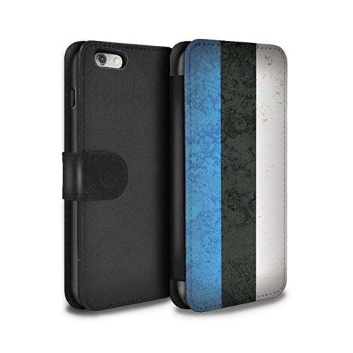Stuff4 Coque/Etui/Housse Cuir PU Case/Cover pour Apple iPhone 7 Plus / Union Européenne/Ue Design / Drapeau Europe Collection Estonie/Estonien
