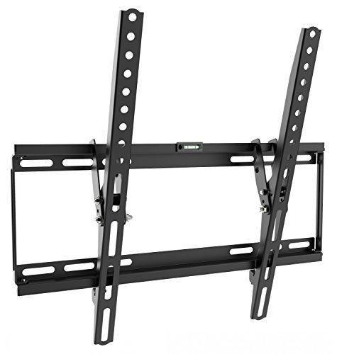 RICOO TV Wandhalterung N1944 Universal Fernseh Halterung Neigbar Super Flach Wand Halter Aufhängung auch für Curved LCD und LED Fernseher | ca. 81-165cm / 32-65 Zoll | VESA 200x100 400x400 | Schwarz