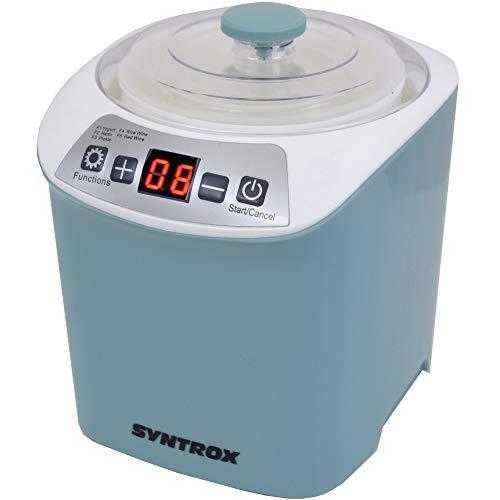 Syntrox Germany 4 in 1 Digitaler 1 Liter Käse,- Wein-, Quark- und Joghurtbereiter