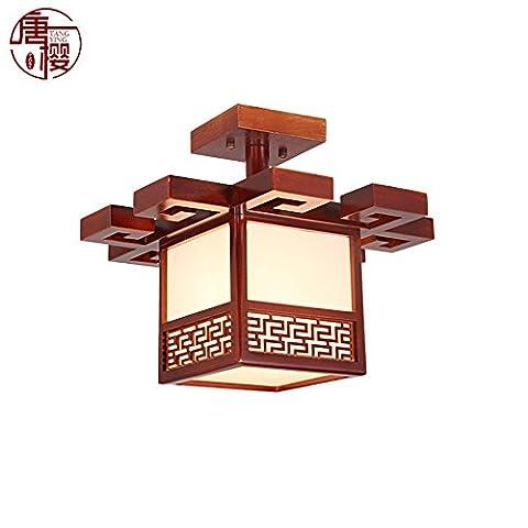 XBLIGHTING Pendentif LED moderne montage encastré plafond plafond chinois moderne en bois lumière LED en acrylique, 380 * h320mm