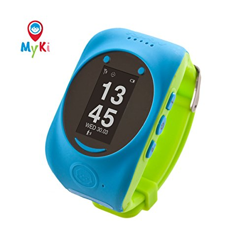 MyKi Smart Watch (Blue) Children's GPS Tracker SOS Call Real Time Location Finder, Controlled by Apple and Android Phone