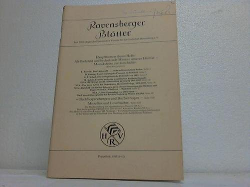 Ravensberger Blätter. Doppelheft, 1983 (1 + 2)