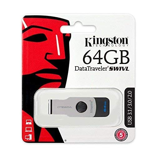 Kingston DataTraveler SWIVL USB 3.1 64GB Pen Drive (White)