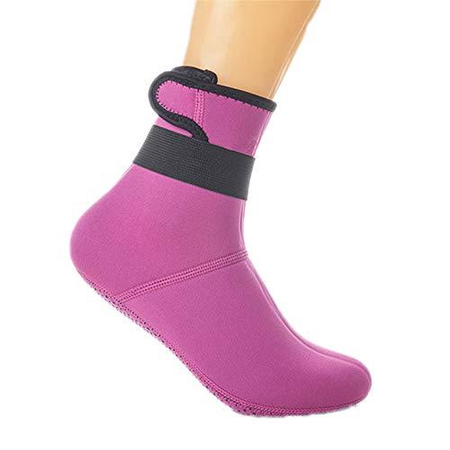 ZXLIFE@@ Anti-Rutsch-Wasserschuhe, Wetsuit-Socken mit hoher Elastizität, Strand-Surf-Schuhe, Yoga-Socken mit Magic Hook, leicht zu tragen und geringes Gewicht, Anzug für Wassersport,Pink,M