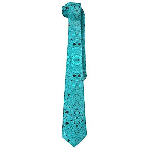 False warm warm Green Teal Diamonds Men's Tie Long Necktie Skinny Neckwear Silk Diamond Mens Tie