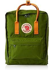 Fjällräven Kånken - Mochila para portátiles y netbooks (Verde, Naranja, Vinylon, Front pocket, Cremallera)