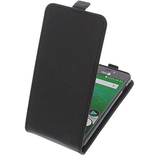 Tasche für Doro 8035 Smartphone Flipstyle Schutz Hülle schwarz