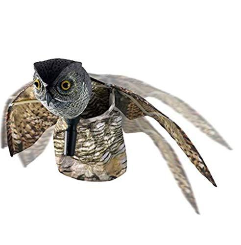 OSRAME Dekorationen für Zuhause, Retro, Holz, Vogelscheuer, natürliche Abschreckung gegen Parasiten der Eule mit beweglichen Flügeln - Schreckt Vögel, Nagetiere und nachteilige Tiere