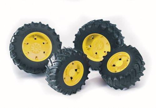 Bruder 03304 - Zwillingsbereifung mit gelben Felgen für die Traktor Serie 03000 -