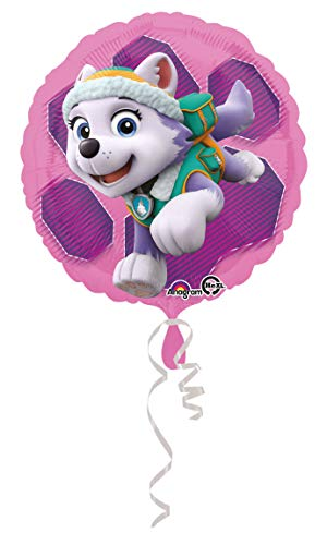 Hunde Vorhanden 2 Kostüm - amscan 3408801 Folienballon Paw Patrol Skye & Everest, Mehrfarbig