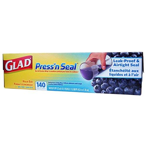 Glad Press'n Seal - Value Size - 13m² (43.4m x 30cm) - 140 sq ft - Sealing Wrap
