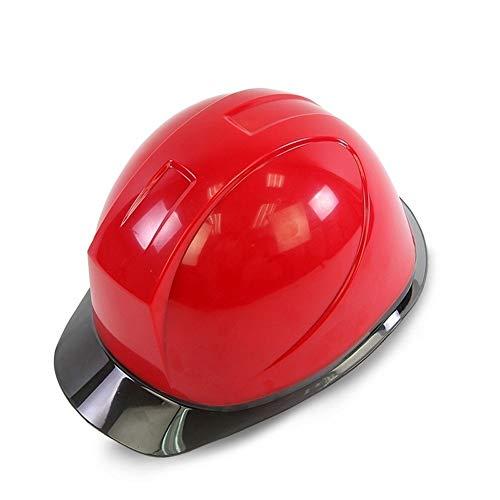 WYNZYSLBD Schutzkappe, Schutzhelm Auf Der Baustelle, Schutzhelm Mit Kinn, Für Männer Und Frauen Geeignet, Mehrfarbig Optional (Color : Red)