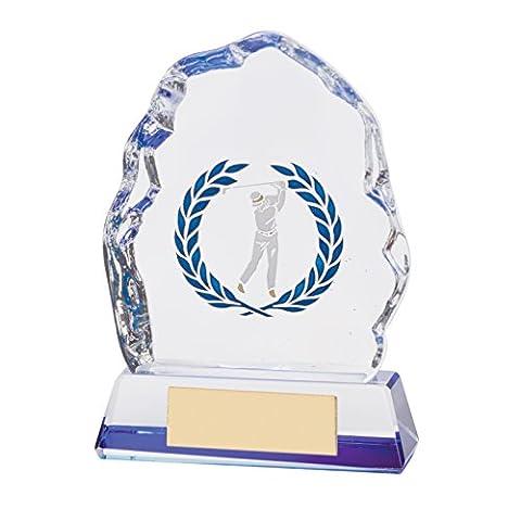 Crystal Matrix Golf Figure Trophies 4 inch