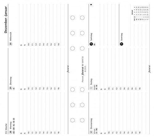 Filofax 000017-68447 Personal 1 Woche auf 2 Seiten horizontal deutsch 2017, Kalender, Planer und Organizer