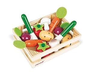Janod - J05611 - Cagette de 12 légumes Bois