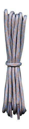Schnürsenkel für Walking- und Trekkingschuhe - grau - türkis - 120 cm -  ideal für North Face Schuhe und andere