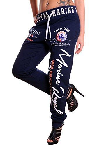 Damen Jogginghose Marine Royal100% Baumwolle (3XL=Fällt Groß aus , Navy )