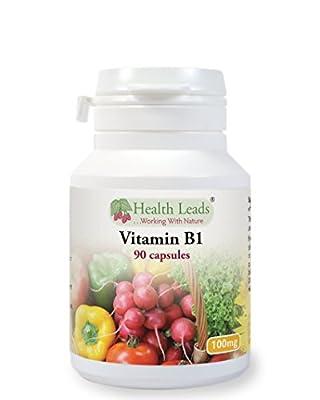 Vitamin B1 (Thiamine) 100mg x 90 capsules (Magnesium Stearate Free) by Health Leads UK