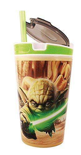 Broszio 1711 - Boîtes à pain Snacky Magic Kids Star Wars, Yoda Vert