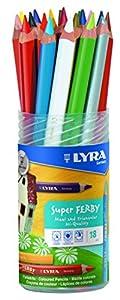 LYRA 3723182 Super Ferby - Pack de 18 lápices de colores Importado de Alemania