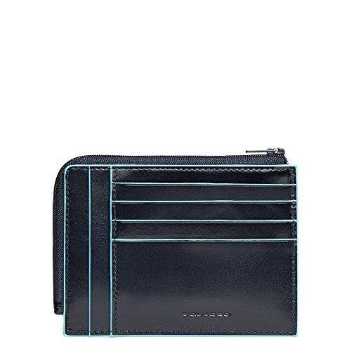 Piquadro Blue Square Portamonete con 8 Alloggiamenti per Carte di Credito, 12 cm, 0.43 litri, Blu Notte