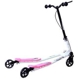 HOMCOM Kids 3 Wheels Foldable Speeder Scooter Tri Slider Winge Push Motion Pink 910 * 600 * 800mm