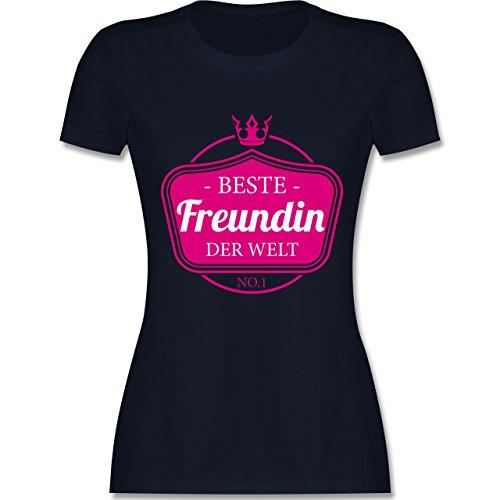 Shirtracer Typisch Frauen - Beste Freundin der Welt - XXL - Navy Blau - L191 - Damen T-Shirt Rundhals (Beste T-shirt Freundin Gelben)