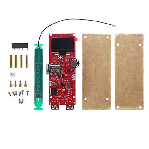 LLAni ESP8266 Entwicklungsplatine (WiFi, Deauther Monster Attack/Test/Interferenz, 3,3 cm, OLED-Schnellladegerät, 2 USB)