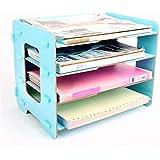 GP Nuevos productos Oficina Archivos de madera Estante Archivos Archivo Oficina Papelería Archivadores (Color : Blue, Size : M)