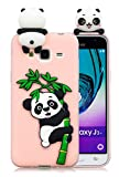 3C Collection Cover Samsung J3 2016 Silicone Panda, Cover Galaxy J3 2016 Silicone Panda, Cover 3D Animali in Silicone Morbido per Samsung Galaxy J3 2016 J310 Custodia Rosa in Gomma per Ragazze