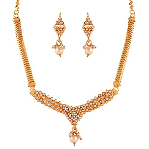 Variation White Beads Fashion Necklace Set For Women (VD15380)