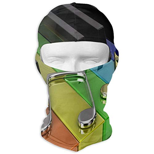 Vidmkeo Music Tree Full Face Masks UV Balaclava Hood Ski Sports Cap Motorcycle Neck Warmer Tactical Hood for Cycling Outdoor Sports Hiking Multicolor19 - Wolle Mütze Trapper Herren