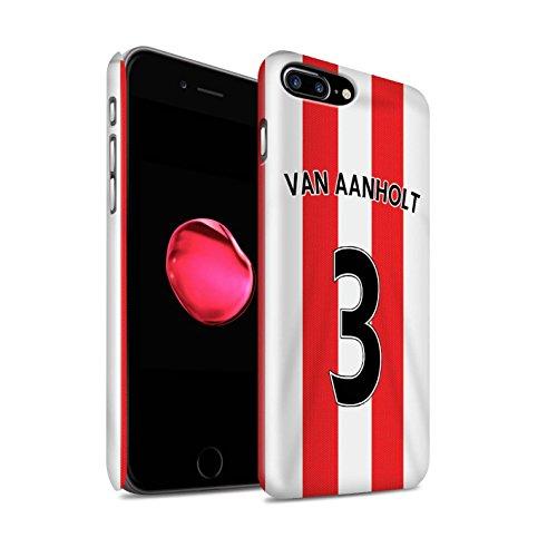 Officiel Sunderland AFC Coque / Clipser Brillant Etui pour Apple iPhone 7 Plus / Matthews Design / SAFC Maillot Domicile 15/16 Collection Van Aanholt