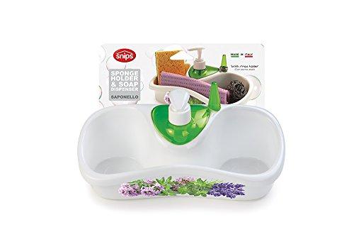 Snips 021345 saponello con decoro, bianco