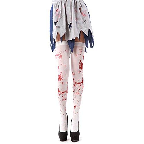 LQZ Kniestrümpfe Halloween Damen Knielanger Strumpf Overknee Kostüme (Strumpfe Halloween)