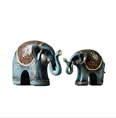 Escultura Estatuilla Estatua Adorno Artesanía, resina de elefante Escultura Regalos de animales...