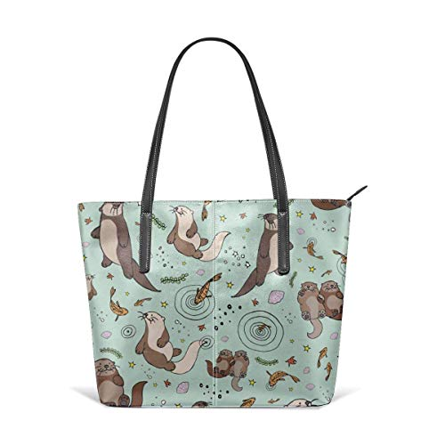 XGBags Custom Frauen Umhängetaschen Flexible Otter Pattern Leather Handbag Tote Bag For Women (Frauen Handtaschen Jessica Simpson)