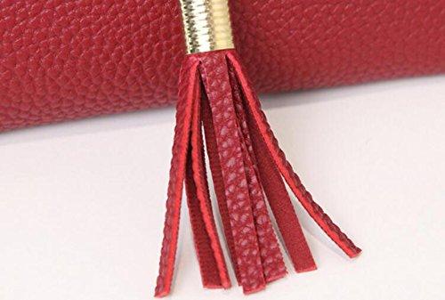 Weibliche Beutel Schulterbeutel Diagonales Paket Einfache Normallackschlüsselpaket Beiläufige Art Und Weise Weiße Erde Pink