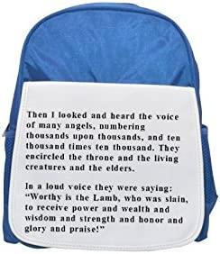 44 As soon as the sound of your greeting reached reached reached my ears the baby in my womb leaped for joy. printed kid's Bleu  backpack, Cute backpacks, cute small backpacks, cute Noir  backpack, cool Noir  backpack | Outlet Store  ad4d97