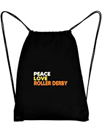 Teeburon PEACE , LOVE AND Roller Derby Bolsa deportiva